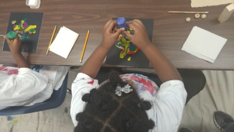 Learning about gravity & viscosity with paint & blocks