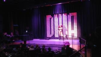 At the annual Wine, Divas, Desserts fundraiser / drag show