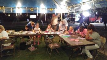 Arts activities at a Brazos Nights concert