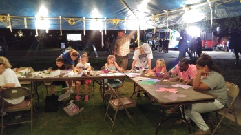 Arts activities at a Brazos Nights concert