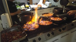 Helping to cook vats of Caoq au Vin for White Linen Night Fundraiser event